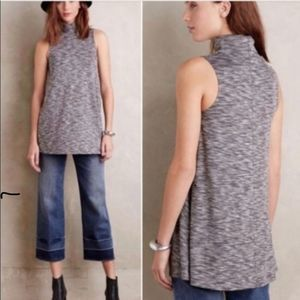 Anthropologie Postmark Sleeveless Turtleneck Top